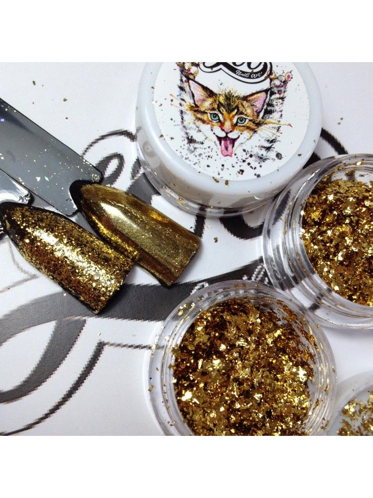"PIGMENT ""FLAKES"" GOLD"