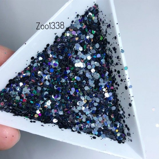 Kaufen Disco Glitter mix black 1338